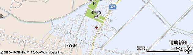 山形県寒河江市清助新田34周辺の地図