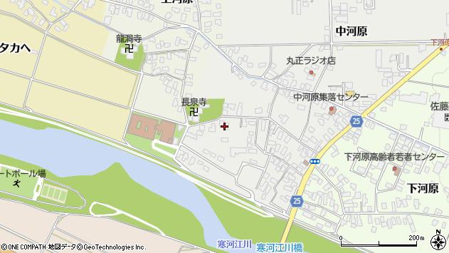 山形県寒河江市中河原208周辺の地図