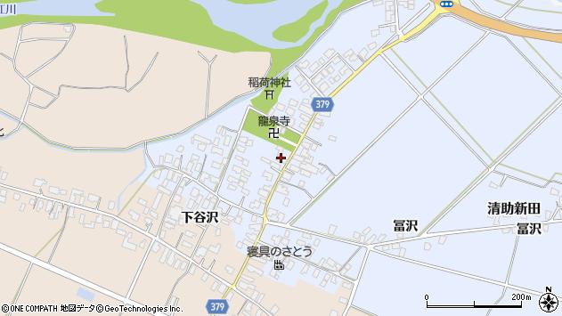山形県寒河江市清助新田33周辺の地図