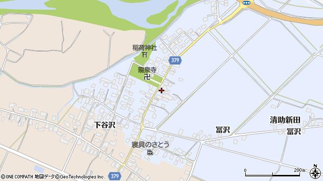 山形県寒河江市清助新田51周辺の地図