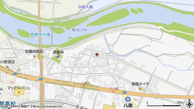 山形県寒河江市八鍬42周辺の地図