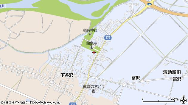 山形県寒河江市清助新田31周辺の地図