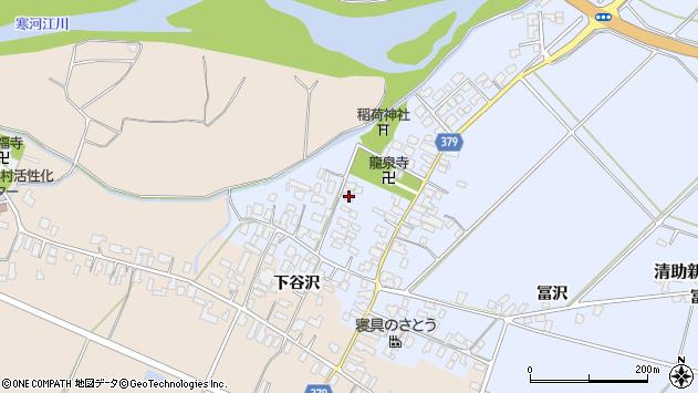 山形県寒河江市清助新田25周辺の地図