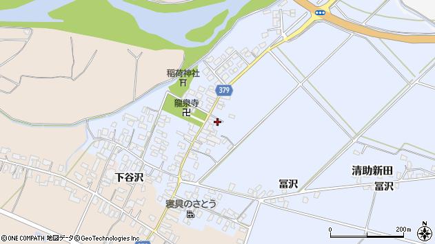 山形県寒河江市清助新田52周辺の地図