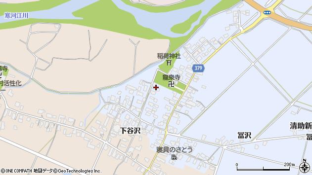 山形県寒河江市清助新田26周辺の地図