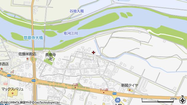 山形県寒河江市八鍬37周辺の地図