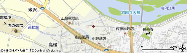 山形県寒河江市高松182周辺の地図