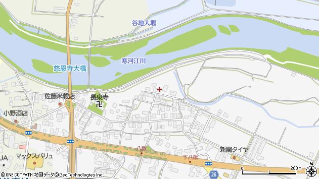 山形県寒河江市八鍬33周辺の地図