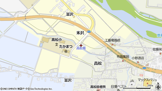 山形県寒河江市米沢冨沢822周辺の地図