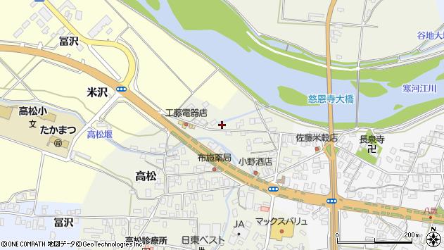 山形県寒河江市高松160周辺の地図