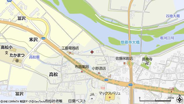山形県寒河江市高松162周辺の地図