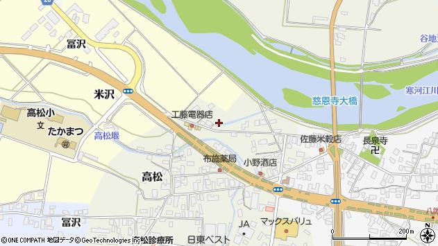 山形県寒河江市高松156周辺の地図