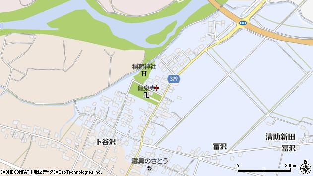 山形県寒河江市清助新田514周辺の地図