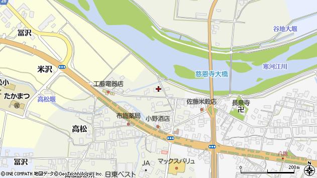 山形県寒河江市高松165周辺の地図