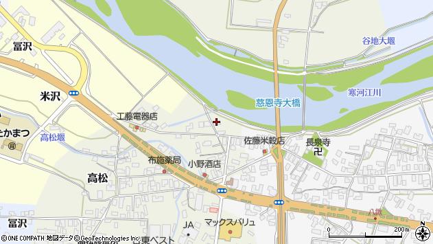 山形県寒河江市高松206周辺の地図