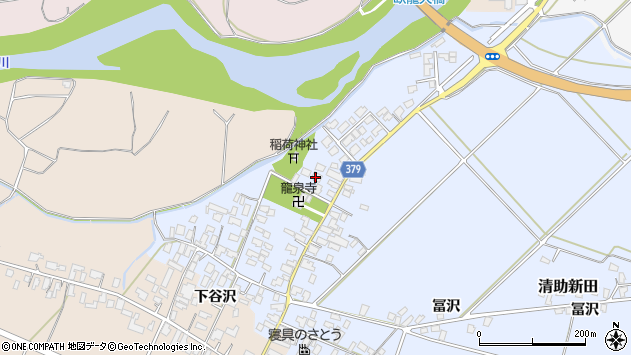 山形県寒河江市清助新田56周辺の地図
