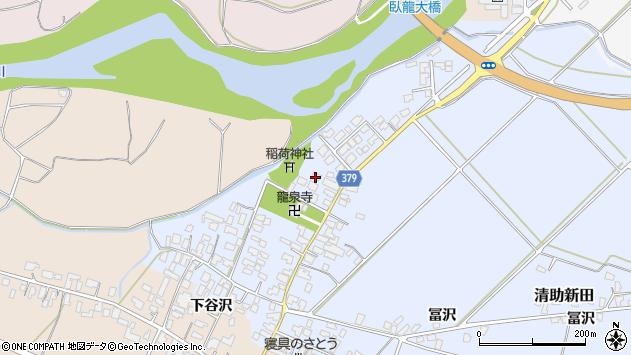山形県寒河江市清助新田515周辺の地図
