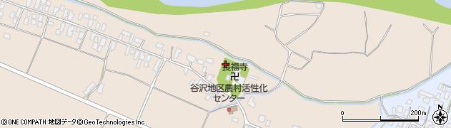 山形県寒河江市谷沢下谷沢周辺の地図