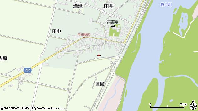 山形県西村山郡河北町田井十四区周辺の地図