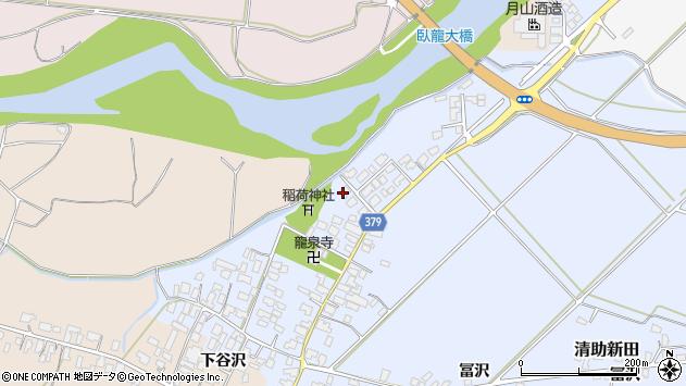 山形県寒河江市清助新田58周辺の地図