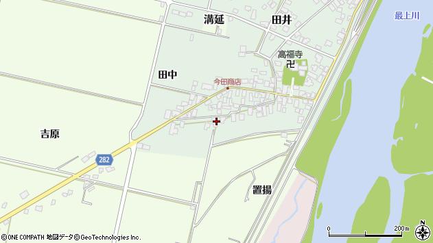 山形県西村山郡河北町田井2周辺の地図