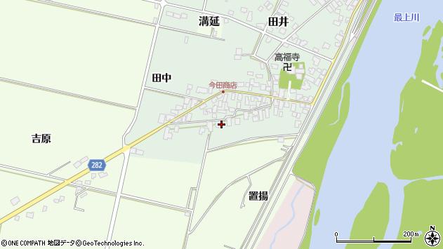 山形県西村山郡河北町田井3周辺の地図
