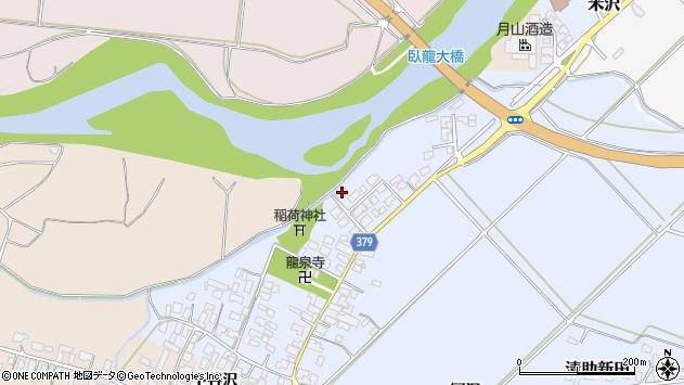 山形県寒河江市清助新田61周辺の地図