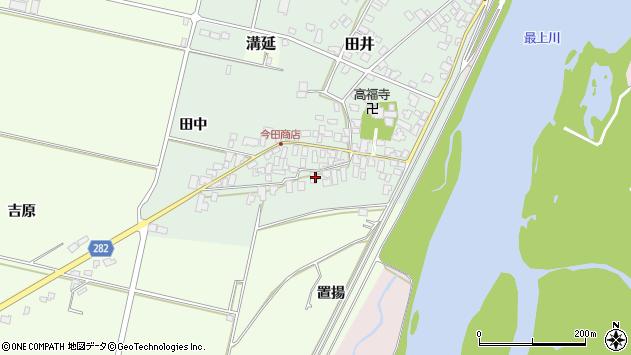 山形県西村山郡河北町田井田中5周辺の地図