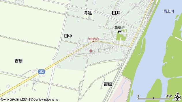 山形県西村山郡河北町田井117周辺の地図
