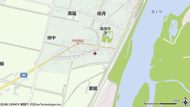 山形県西村山郡河北町田井7周辺の地図