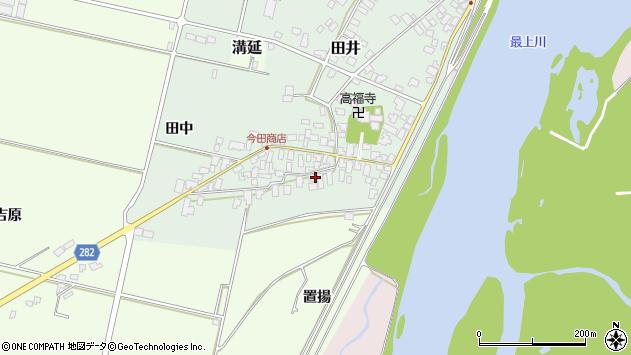山形県西村山郡河北町田井6周辺の地図