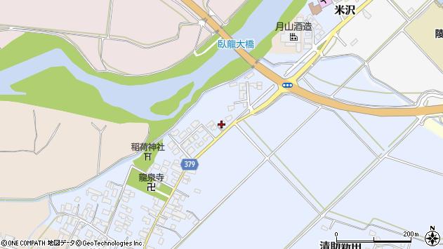 山形県寒河江市清助新田72周辺の地図