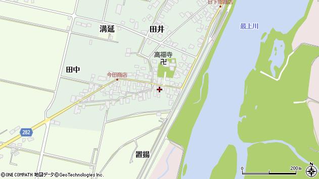 山形県西村山郡河北町田井8周辺の地図