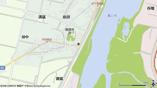 山形県西村山郡河北町田井52周辺の地図