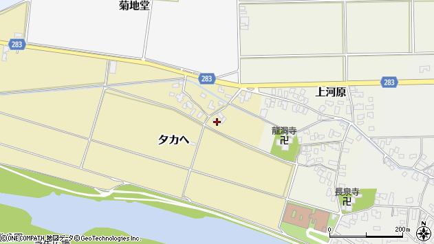 山形県寒河江市夕カヘ30周辺の地図