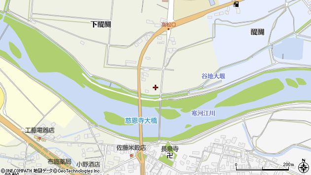 山形県寒河江市慈恩寺1530周辺の地図