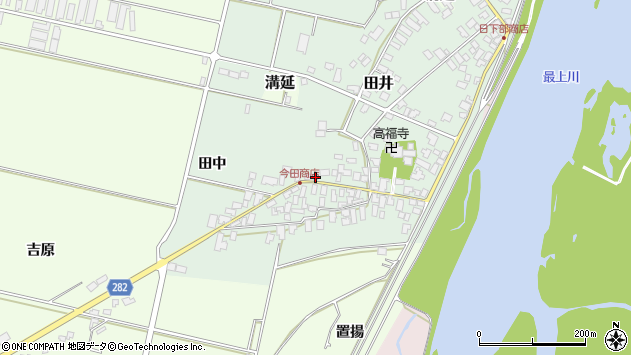 山形県西村山郡河北町田井21周辺の地図