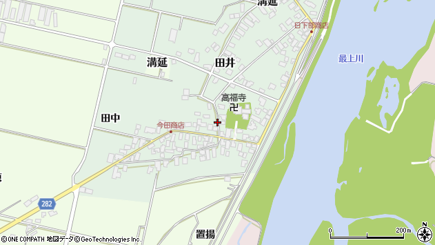 山形県西村山郡河北町田井27周辺の地図