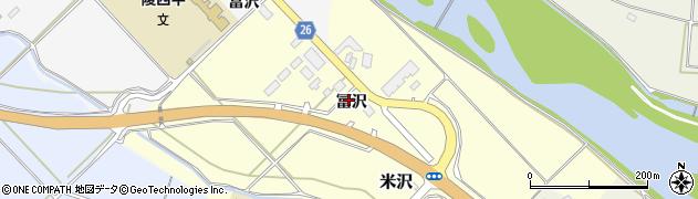 山形県寒河江市米沢冨沢796周辺の地図