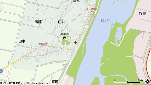 山形県西村山郡河北町田井54周辺の地図