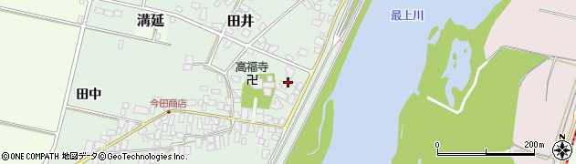 山形県西村山郡河北町田井55周辺の地図