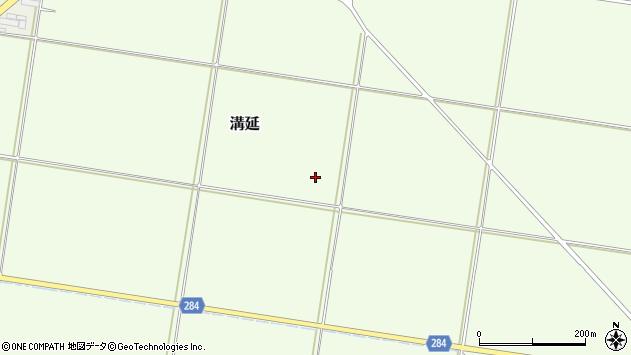 山形県西村山郡河北町溝延扇田周辺の地図