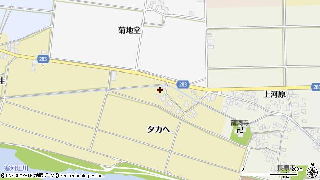 山形県寒河江市夕カヘ25周辺の地図