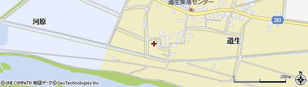 山形県寒河江市道生53周辺の地図
