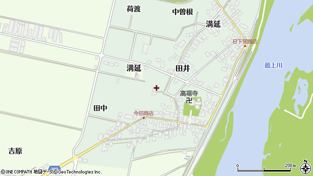 山形県西村山郡河北町田井32周辺の地図