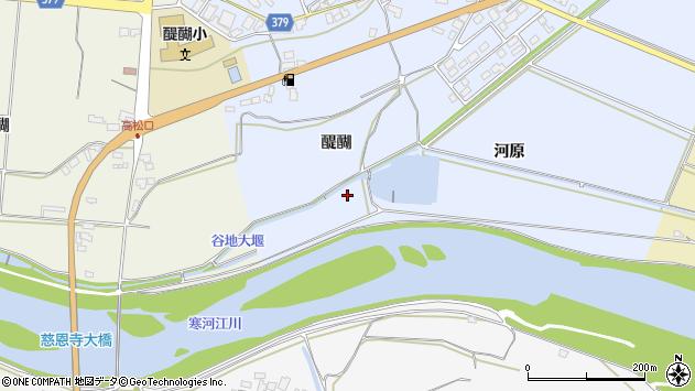 山形県寒河江市日和田河原周辺の地図