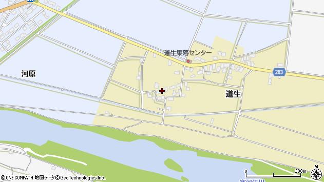 山形県寒河江市道生89周辺の地図