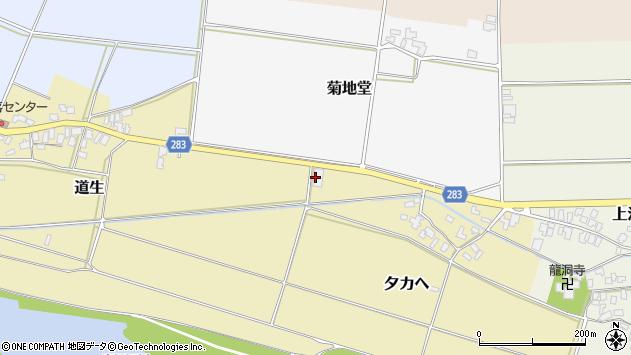 山形県寒河江市夕カヘ9周辺の地図