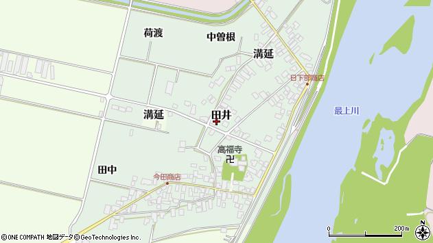 山形県西村山郡河北町田井183周辺の地図