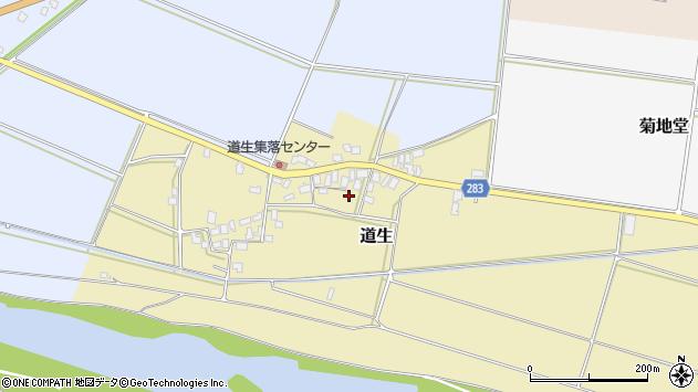 山形県寒河江市道生120周辺の地図